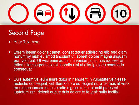 Traffic Signs PowerPoint Template, Slide 2, 12656, Education & Training — PoweredTemplate.com
