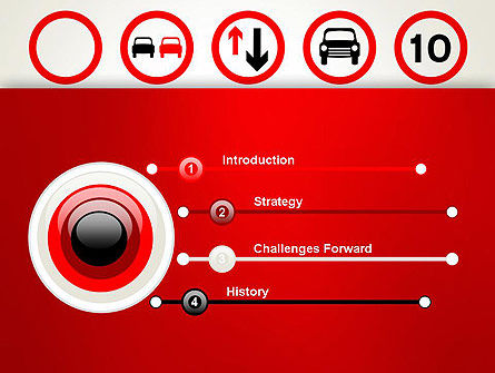 Traffic Signs PowerPoint Template, Slide 3, 12656, Education & Training — PoweredTemplate.com