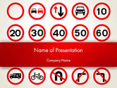 Education & Training: Traffic Signs PowerPoint Template #12656