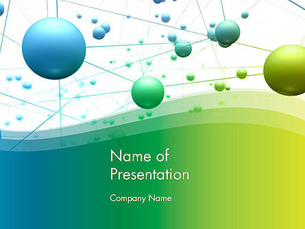 Abstract 3D Bubble Diagram PowerPoint Template