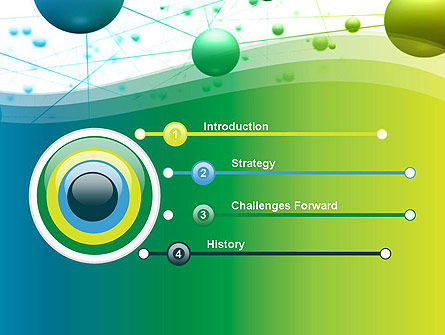 Abstract 3D Bubble Diagram PowerPoint Template Slide 3