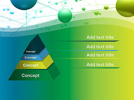 Abstract 3D Bubble Diagram PowerPoint Template Slide 4