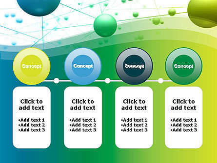 Abstract 3D Bubble Diagram PowerPoint Template Slide 5