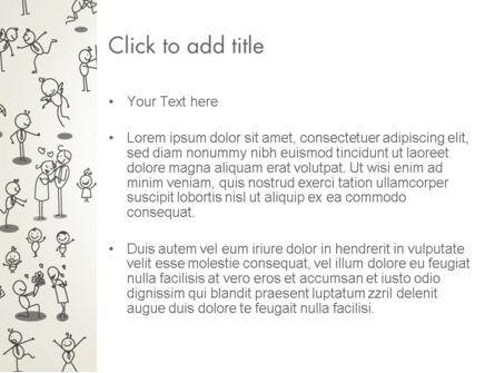 Funny Stickman Background PowerPoint Template, Slide 3, 12658, Art & Entertainment — PoweredTemplate.com