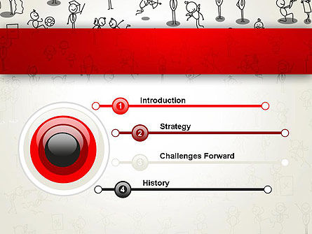 Funny Stickman Background PowerPoint Template, Slide 3, 12658, Art & Entertainment — PoweredTemplate.com