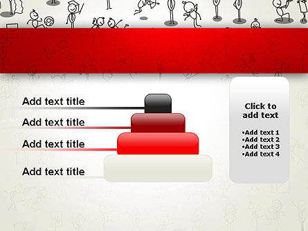 Funny Stickman Background PowerPoint Template Slide 8