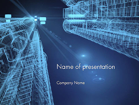 Abstract 3D Architect PowerPoint Template