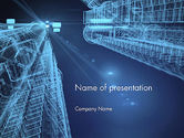 Construction: Abstract 3D Architect PowerPoint Template #12659