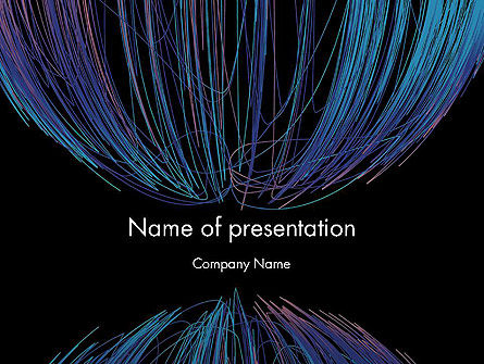 Abstract Wire PowerPoint Template, 12661, Abstract/Textures — PoweredTemplate.com
