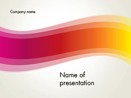 Abstract/Textures: Abstract Wave in Red Spectrum PowerPoint Template #12662