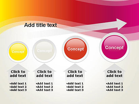 Abstract Wave in Red Spectrum PowerPoint Template Slide 13