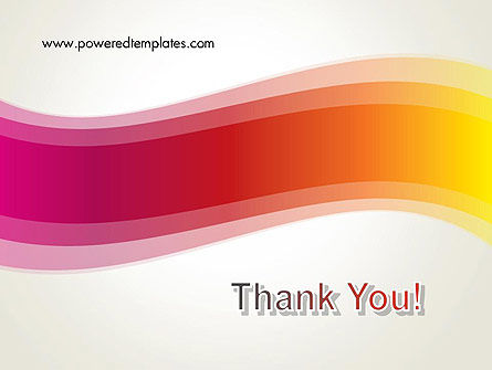 Abstract Wave in Red Spectrum PowerPoint Template Slide 20
