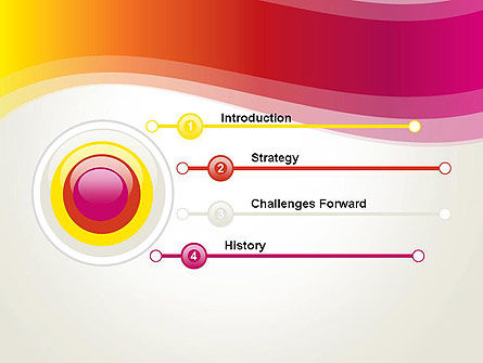 Abstract Wave in Red Spectrum PowerPoint Template Slide 3