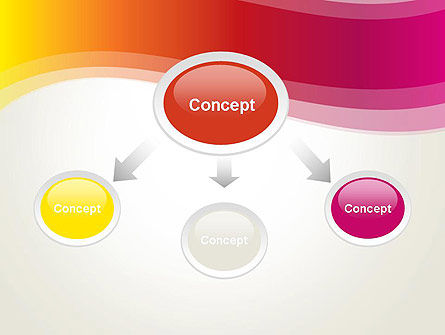 Abstract Wave in Red Spectrum PowerPoint Template Slide 4