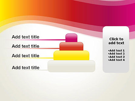 Abstract Wave in Red Spectrum PowerPoint Template Slide 8