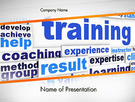 Training and Coaching Word Cloud PowerPoint Template
