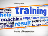 Education & Training: Training and Coaching Word Cloud PowerPoint Template #12663