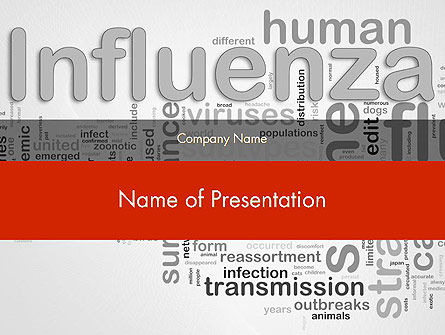 Medical: Modèle PowerPoint de influenza word cloud #12665
