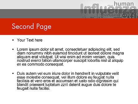 Influenza Word Cloud PowerPoint Template, Slide 2, 12665, Medical — PoweredTemplate.com
