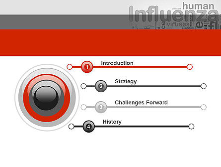 Influenza Word Cloud PowerPoint Template, Slide 3, 12665, Medical — PoweredTemplate.com