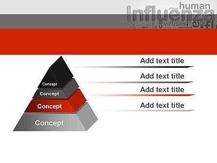 Influenza Word Cloud PowerPoint Template, Slide 4, 12665, Medical — PoweredTemplate.com