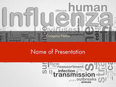 Medical: Influenza Word Cloud PowerPoint Template #12665
