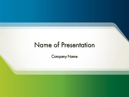 Green And Blue Frame Powerpoint Template Backgrounds