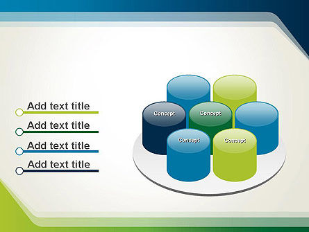 Green and Blue Frame PowerPoint Template Slide 12