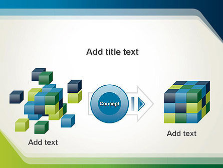 Green and Blue Frame PowerPoint Template Slide 17