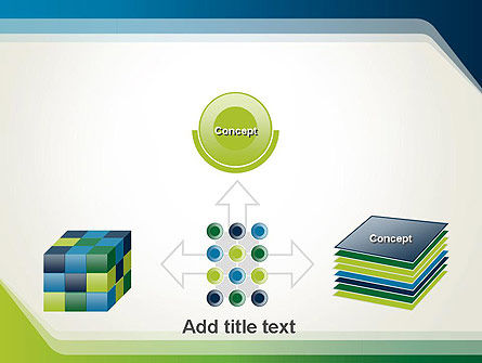 Green and Blue Frame PowerPoint Template Slide 19