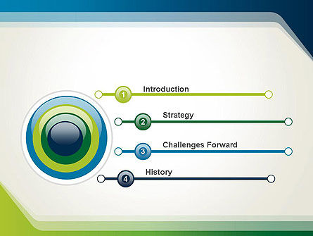 Green and Blue Frame PowerPoint Template Slide 3