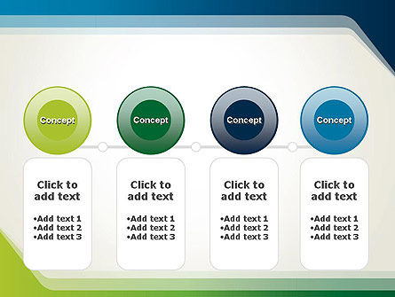 Green and Blue Frame PowerPoint Template Slide 5