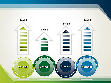 Green and Blue Frame PowerPoint Template Slide 7