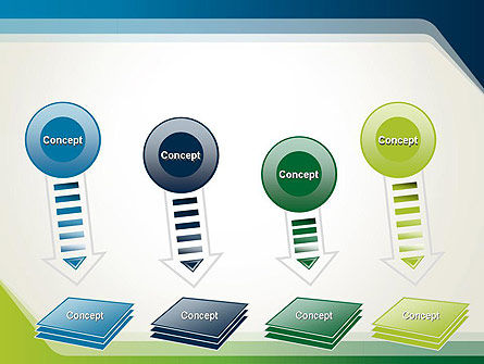Green and Blue Frame PowerPoint Template Slide 8
