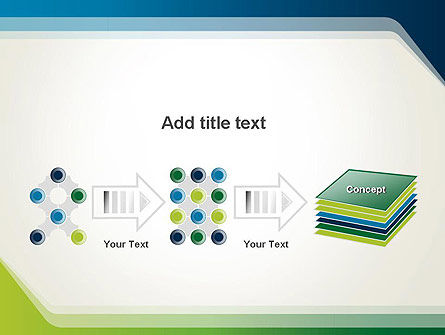 Green and Blue Frame PowerPoint Template Slide 9