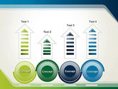 Green and Blue Frame PowerPoint Template#7