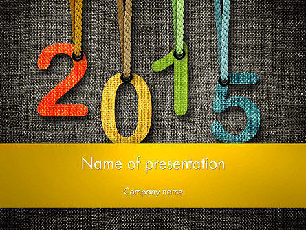 Happy New Year 2015 PowerPoint Template, 12667, Holiday/Special Occasion — PoweredTemplate.com