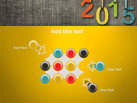 Happy New Year 2015 PowerPoint Template Slide 10