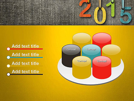 Happy New Year 2015 PowerPoint Template Slide 12