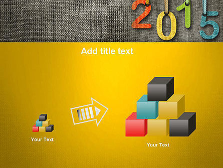 Happy New Year 2015 PowerPoint Template Slide 13