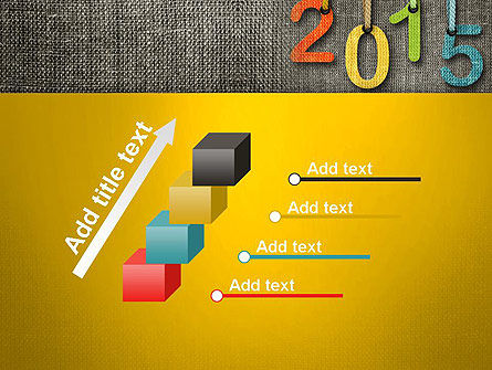 Happy New Year 2015 PowerPoint Template Slide 14