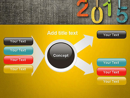 Happy New Year 2015 PowerPoint Template Slide 15