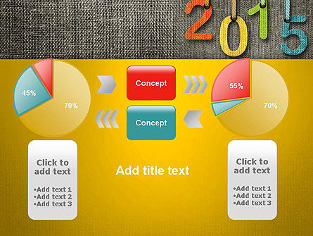 Happy New Year 2015 PowerPoint Template Slide 16