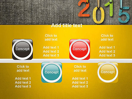 Happy New Year 2015 PowerPoint Template Slide 18