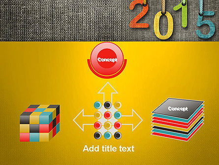 Happy New Year 2015 PowerPoint Template Slide 19
