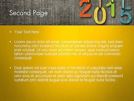 Happy New Year 2015 PowerPoint Template, Slide 2, 12667, Holiday/Special Occasion — PoweredTemplate.com
