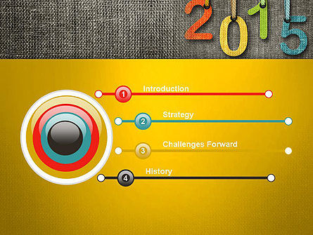 Happy New Year 2015 PowerPoint Template, Slide 3, 12667, Holiday/Special Occasion — PoweredTemplate.com