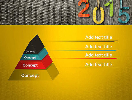 Happy New Year 2015 PowerPoint Template, Slide 4, 12667, Holiday/Special Occasion — PoweredTemplate.com