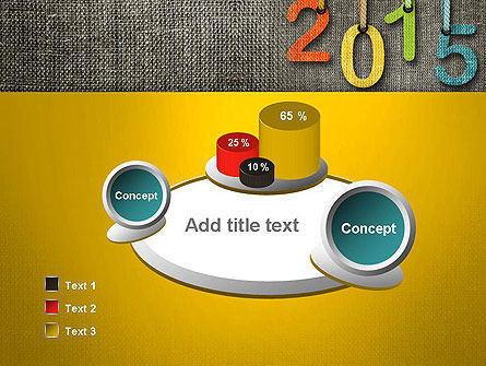 Happy New Year 2015 PowerPoint Template Slide 6