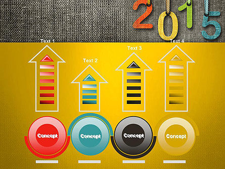 Happy New Year 2015 PowerPoint Template Slide 7